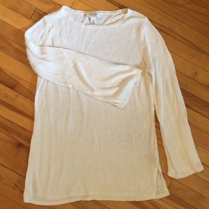 3/$30 Ivory Talbots Bell Sleeve Tunic Sweater